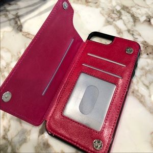 iPhone 7 Plus iPhone 8 Plus Pink wallet id Case